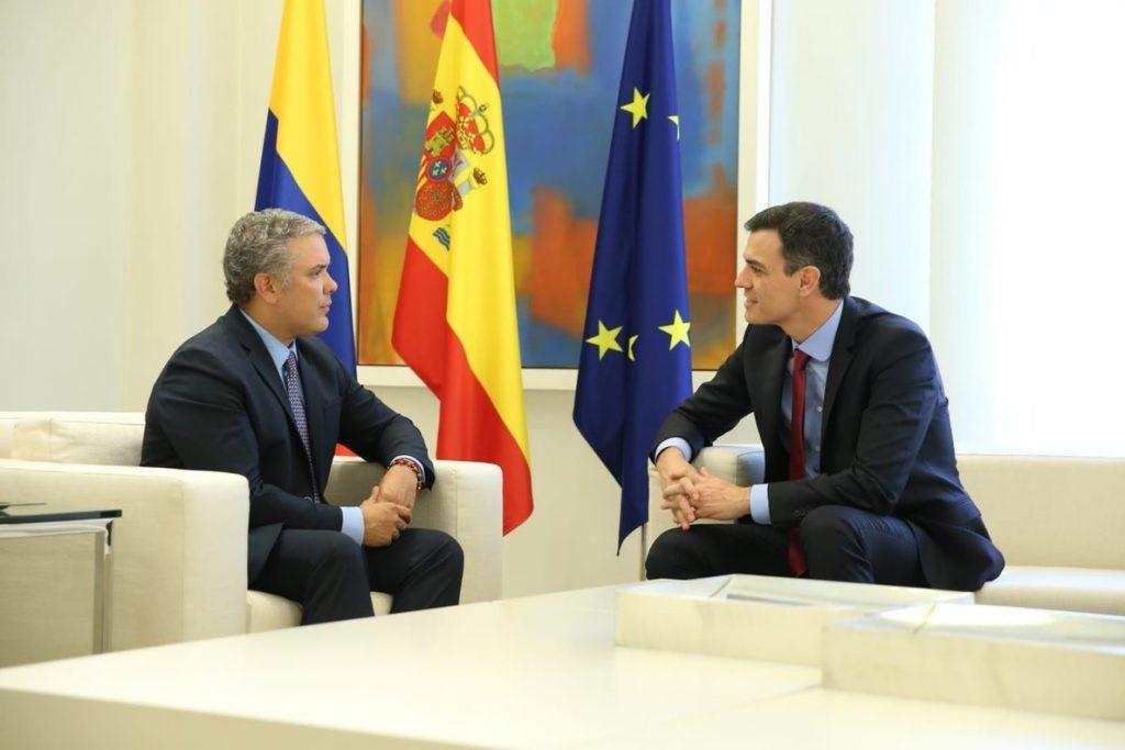 Primera reunión de Pedro Sánchez con el presidente electo de Colombia para «estrechar lazos»