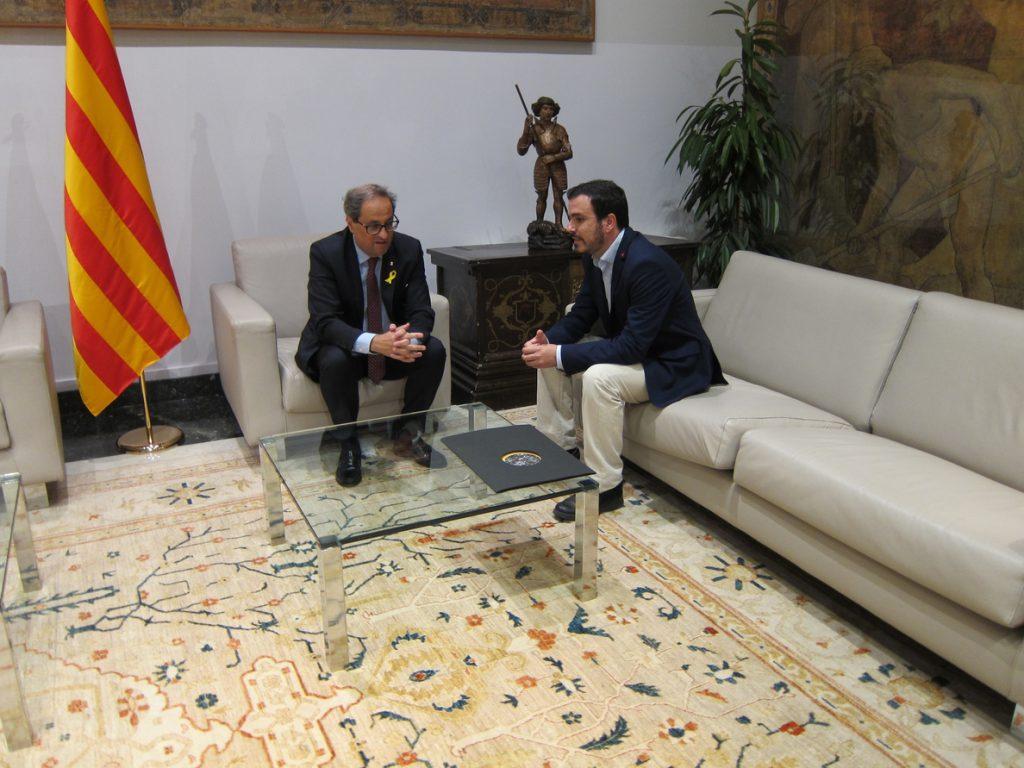 Torra ve muchos puntos de encuentro con Garzón (IU) y comparten «valores republicanos»
