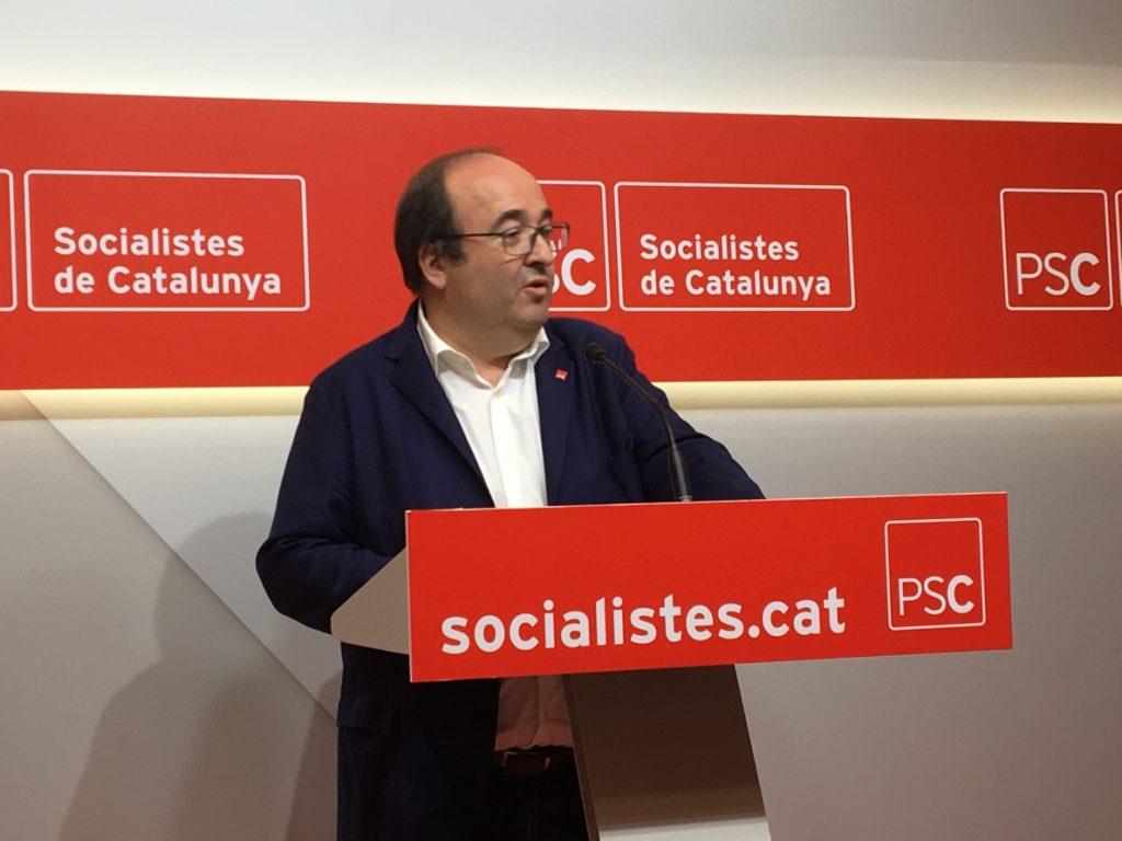 Iceta celebra que «las diferencias de fondo» no hayan impedido la reunión Torra-Sánchez