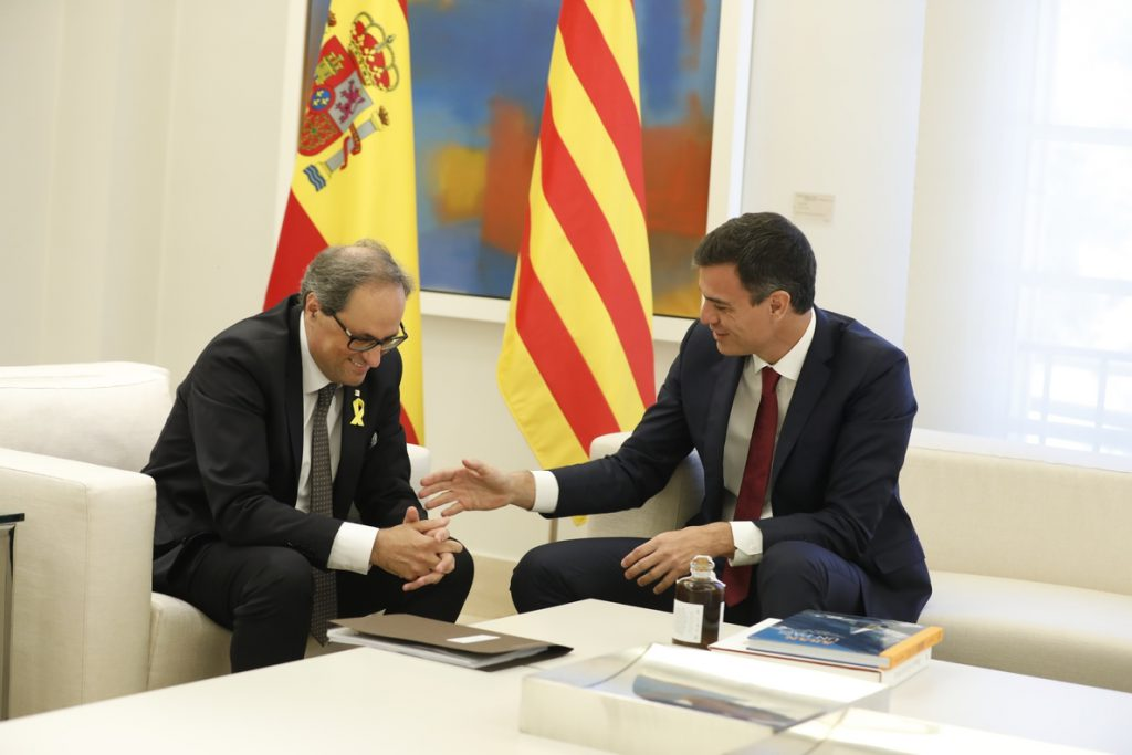 Sánchez y Torra se reúnen en Madrid con el derecho de autodeterminación como protagonista