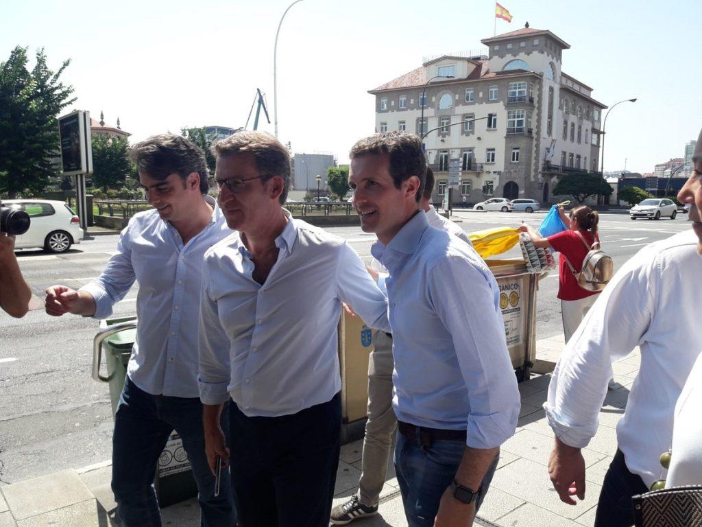 Feijóo participará este miércoles en Santiago con Casado en un acto con los compromisarios gallegos