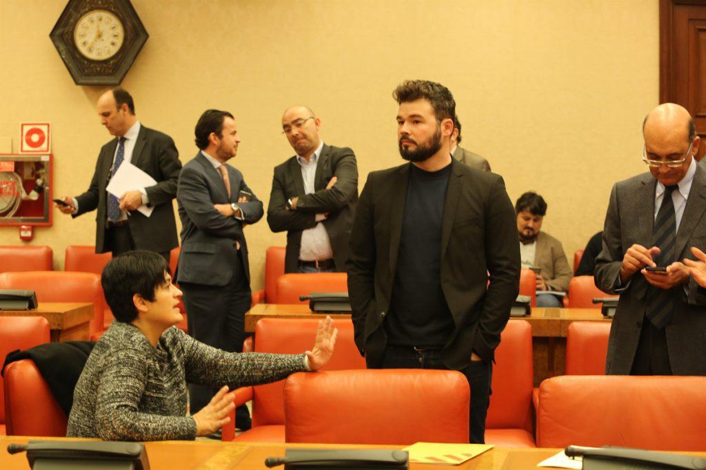 Rufiá (ERC) cree «miserable» que un diputado del PDeCAT le quite la palabra en la comisión sobre Angrois
