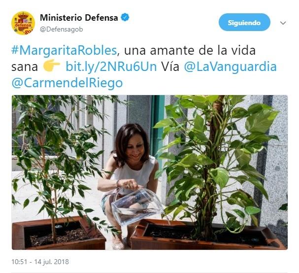 Rivera denuncia que el Ministerio de Defensa usa su cuenta de Twitter para hacer «propaganda» sobre Robles