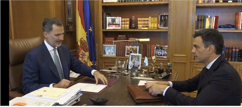 El Rey y Sánchez mantienen su despacho semanal en Zarzuela, antes de la reunión del Consejo de Seguridad Nacional