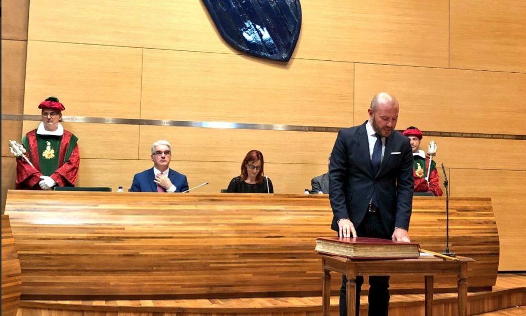 Toni Gaspar (PSPV) es elegido presidente de la Diputación de Valencia como sustituto de Jorge Rodríguez