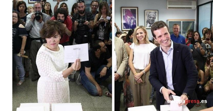 Santamaría y Casado cerrarán mañana en Madrid la campaña para el congreso del PP que elegirá al sucesor de Rajoy