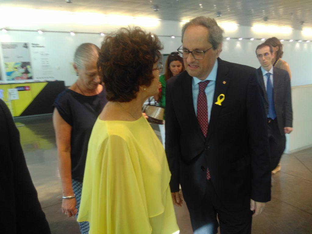Torra exige a Sánchez «acabar con la arbitrariedad de la justicia española»