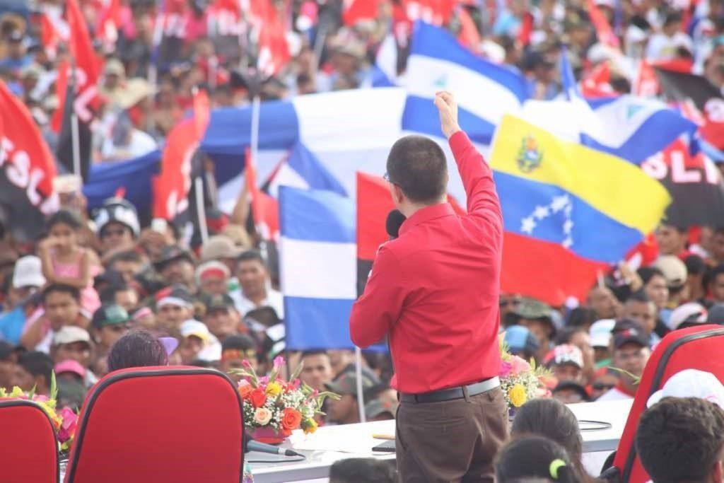 Arreaza ofrece a Ortega la ayuda de Venezuela para «defender» la soberanía de Nicaragua