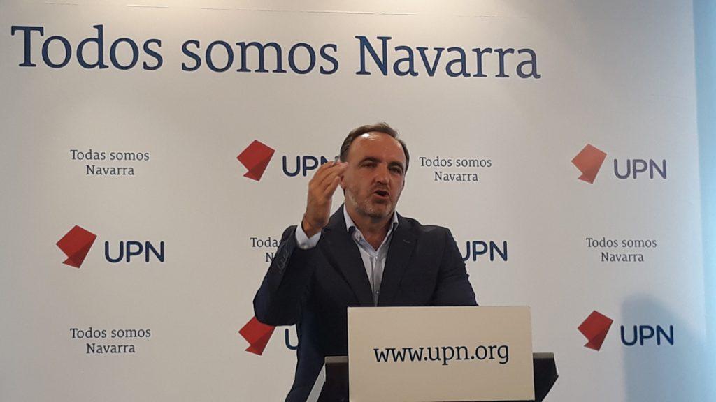 Esparza (UPN) desea «mucho éxito y acierto» a Pablo Casado como presidente del PP