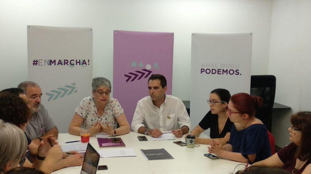 Podemos rechaza que se establezca una «nacionalidad vasca» en el Estatuto ya que «el sujeto político es la ciudadanía»