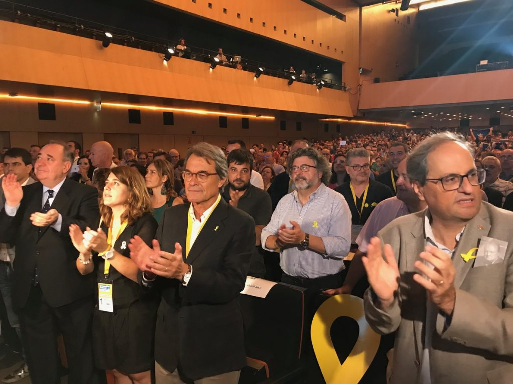 Torra llama al PDeCAT a sumarse a la Crida y subraya el «liderazgo transversal» de Puigdemont