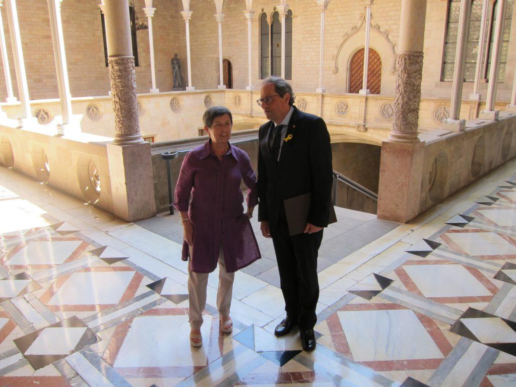 Cunillera traslada a Torra su voluntad de dialogar: «Hablar no puede hacer daño a nadie»