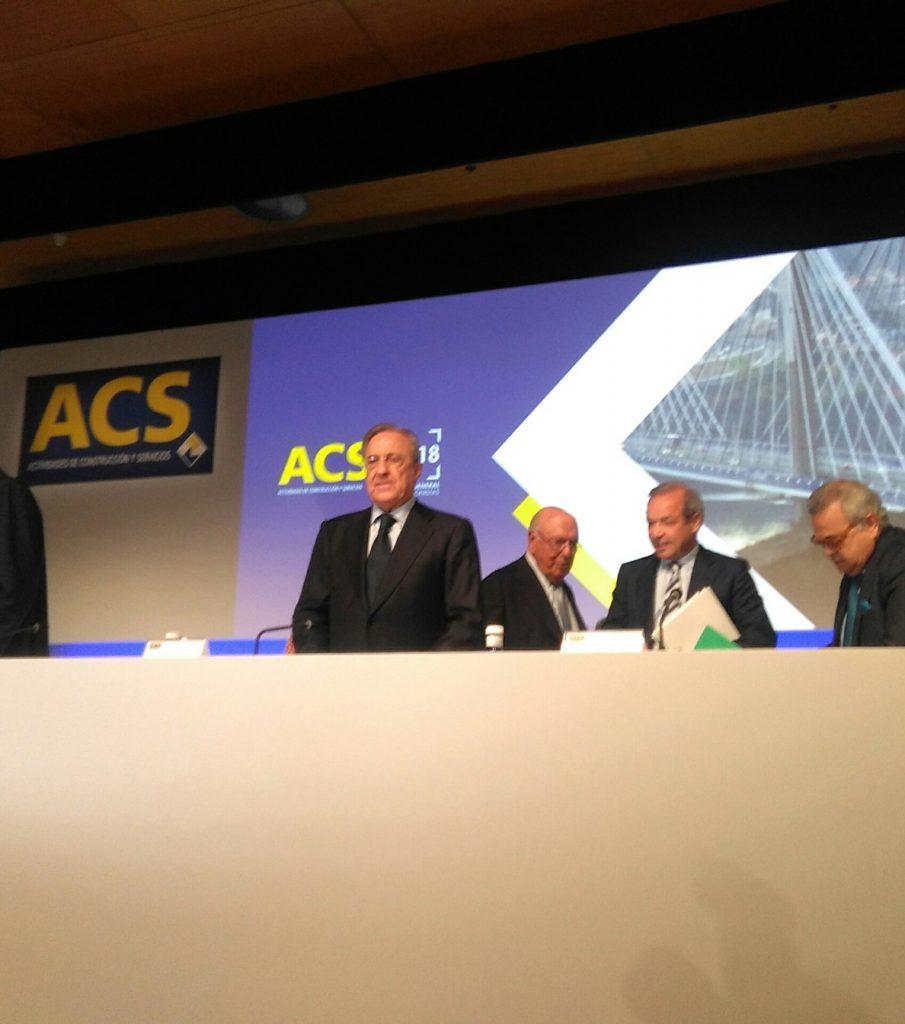 (AMP) ACS asigna opciones sobre acciones a Florentino Pérez y a Marcelino Fernández por 18,5 millones