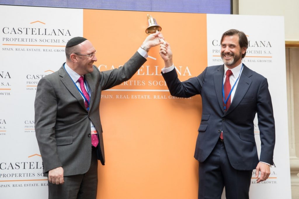 La socimi Castellana Properties se estrena en el MAB con una subida del 5%, hasta los 6,3 euros por título