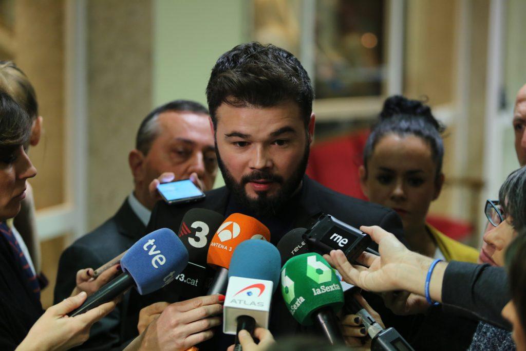 Rufián tacha al juez Llarena de «lacayo de Génova» y critica a Pedro Sánchez por defenderle: «Parecía más valiente»