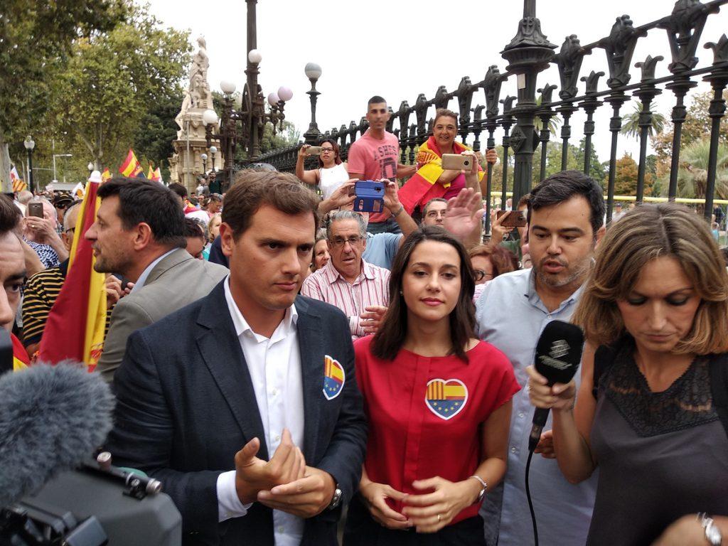 Ciudadanos condena la agresión a un cámara de televisión durante la concentración en la Ciutadella