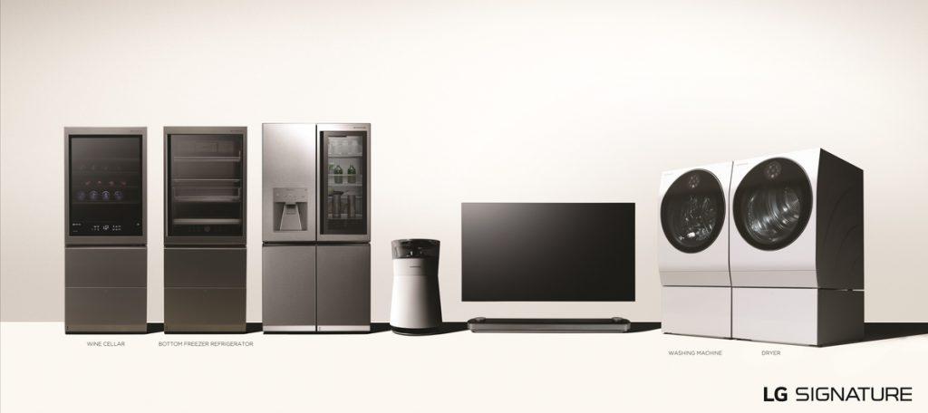 LG extiende su gama de electrodomésticos 'premium' Signature con una vinoteca, una secadora y un nuevo frigorífico