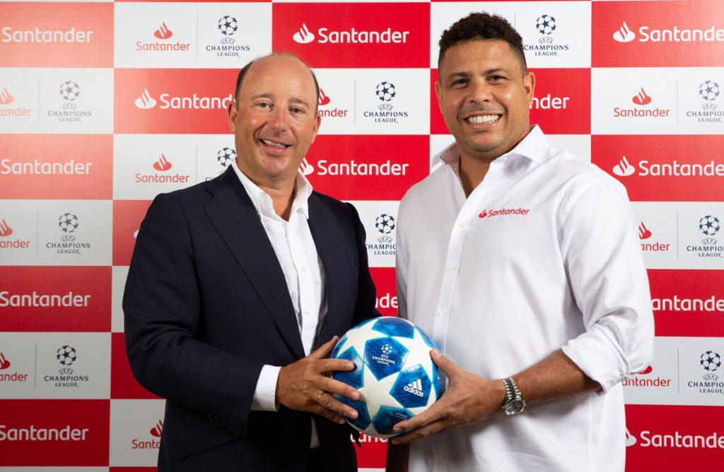 Banco Santander ficha a Ronaldo como embajador de su patrocinio de la UEFA Champions League