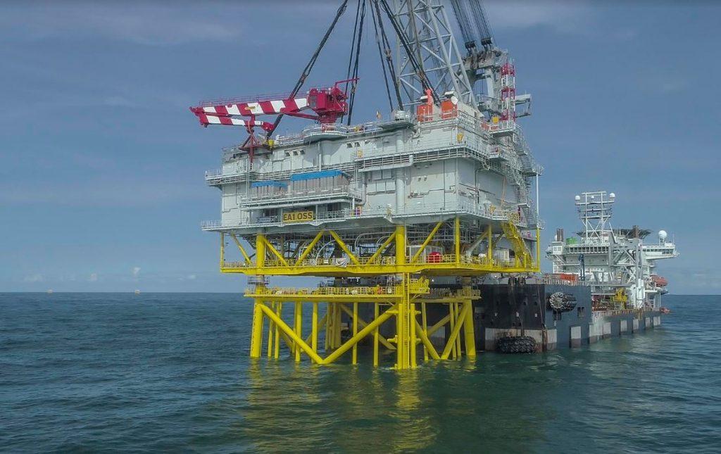 Iberdrola culmina la instalación de la subestación Andalucía II en el parque eólico marino de East Anglia One