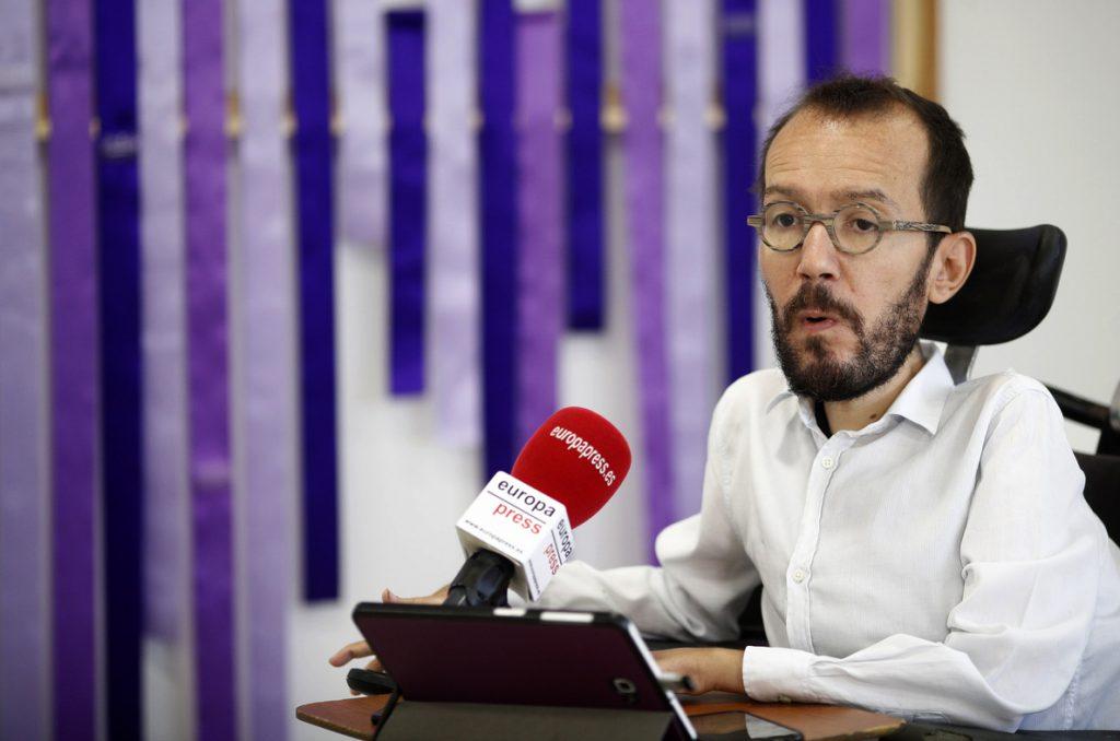 Echenique advierte de que usarán «otras vías» si se paraliza la suspensión del veto del Senado a la senda de déficit