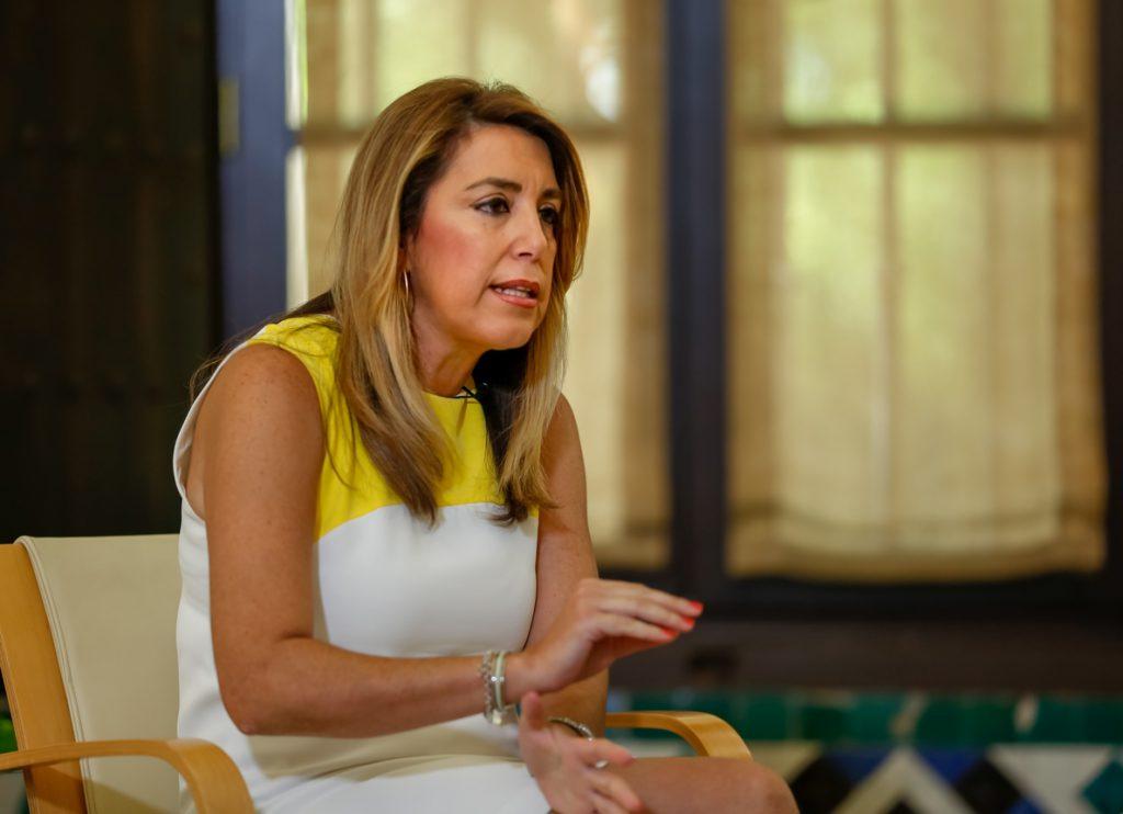 Susana Díaz advierte a Cs de que «lo que interesa a Andalucía, lo decidimos en Andalucía, no en Madrid o Cataluña»