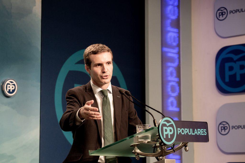 Casado avisa de que «la hoja de ruta» económica de PSOE y Podemos ya genera «expectativas de crecimiento negativas»