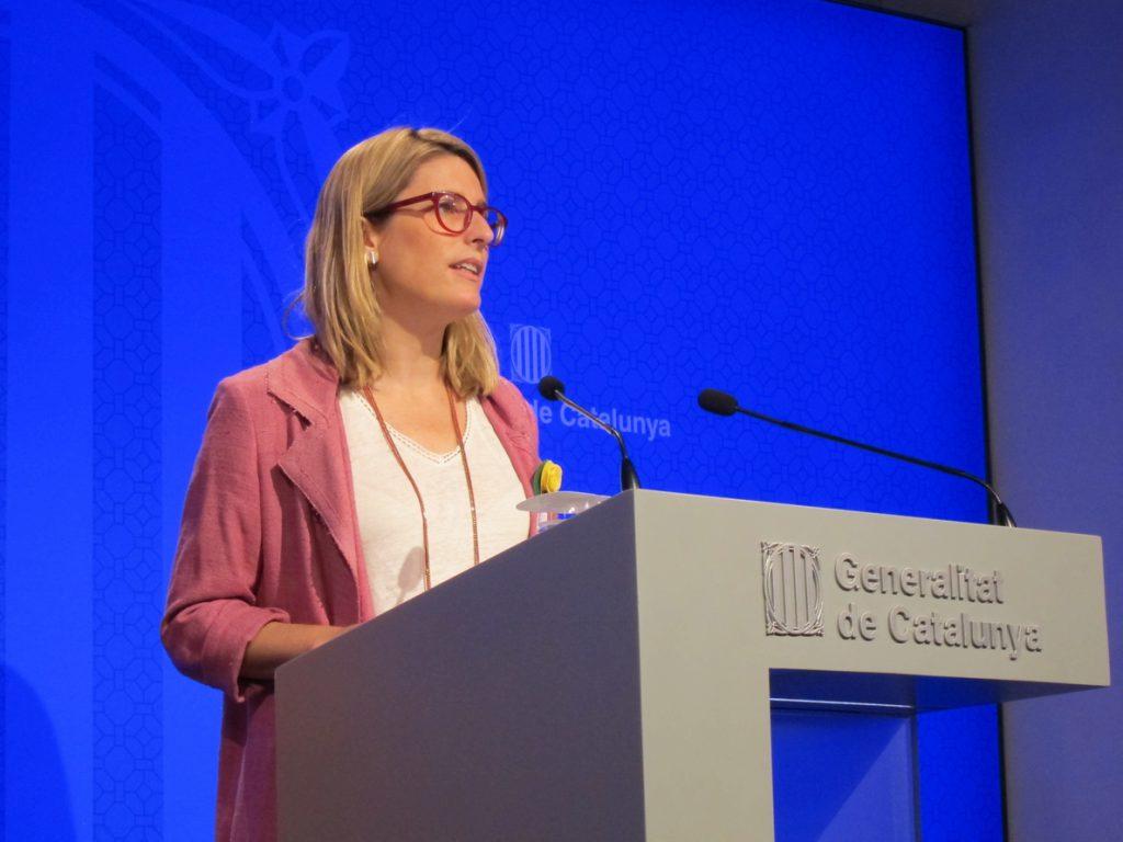 La consellera Elsa Artadi propone que en el referéndum planteado por Sánchez también se incluya la independencia