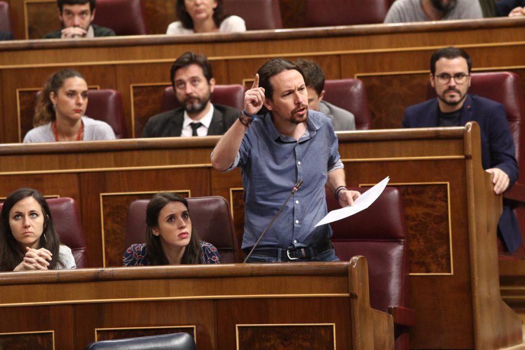 Iglesias aplaude el cambio de PSOE sobre Franco: «En democracia es una anomalía tener una tumba de Estado a un dictador»