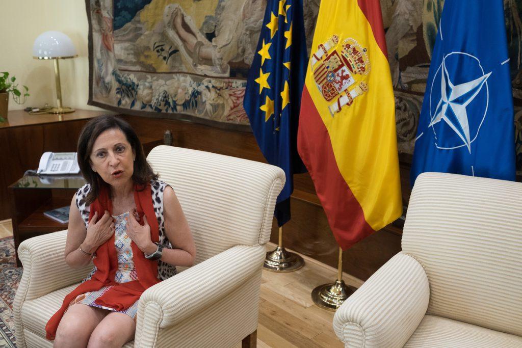 Robles dice que OTAN mantiene «confianza plena» en las fuerzas armadas españolas tras la pérdida accidental de un misil