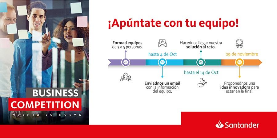 Santander lanza Business Competition, un programa para identificar el talento entre universitarios