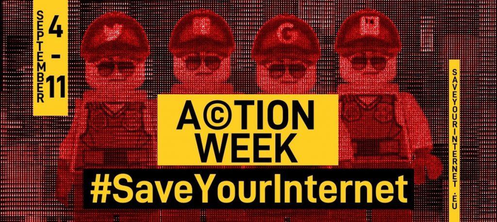 'Save your Internet' insta a contactar con los eurodiputados y frenar la nueva ley de derechos de autor