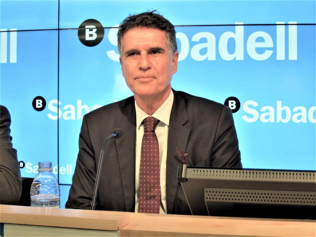 Guardiola (Sabadell) presume de la «rapidez» del banco para detectar la crisis y rediseñar su actividad
