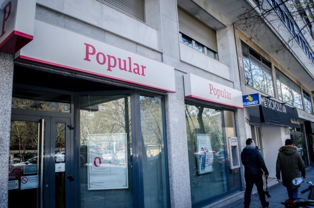 Banco Popular ganó 86 millones hasta junio, frente a pérdidas de 12.218 millones un año antes