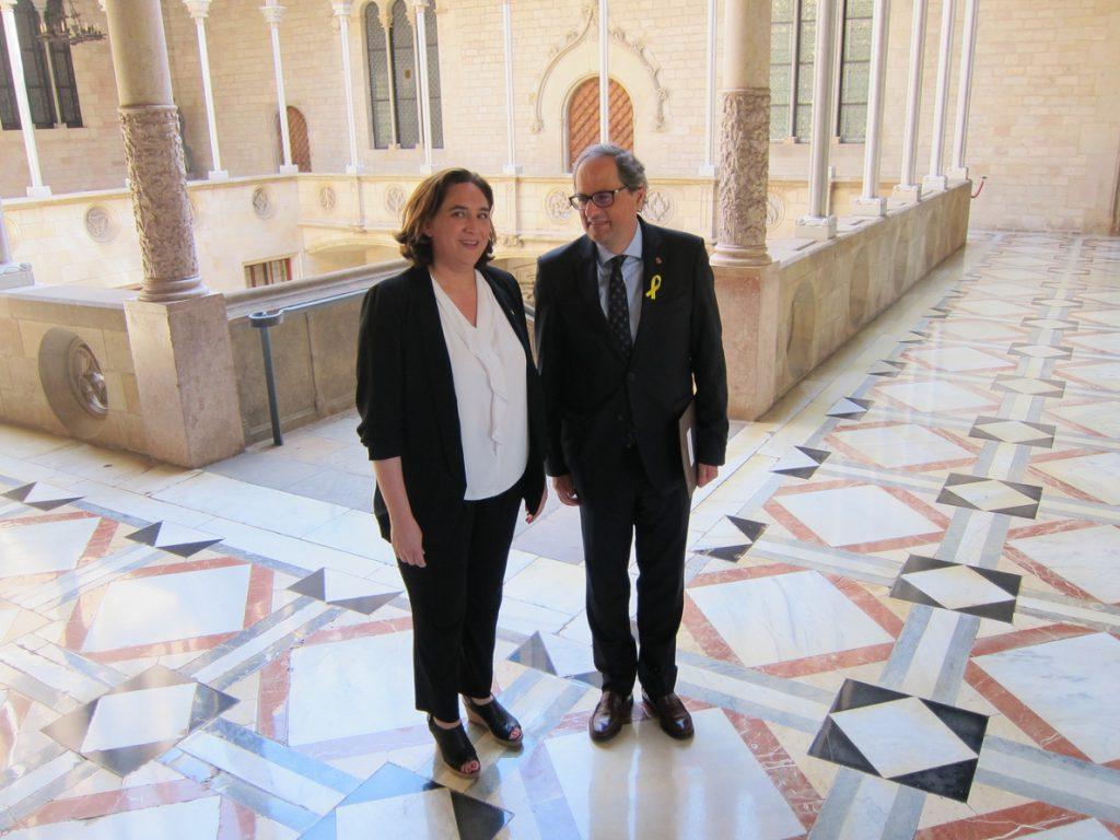 En Comú pide a Torra que muestre su voluntad de diálogo en Barcelona, donde su partido hace «partidismo» contra Colau