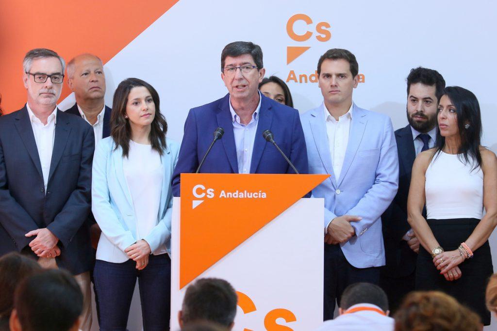 Marín propondrá a la Ejecutiva Nacional de Cs romper el pacto de investidura con el PSOE-A