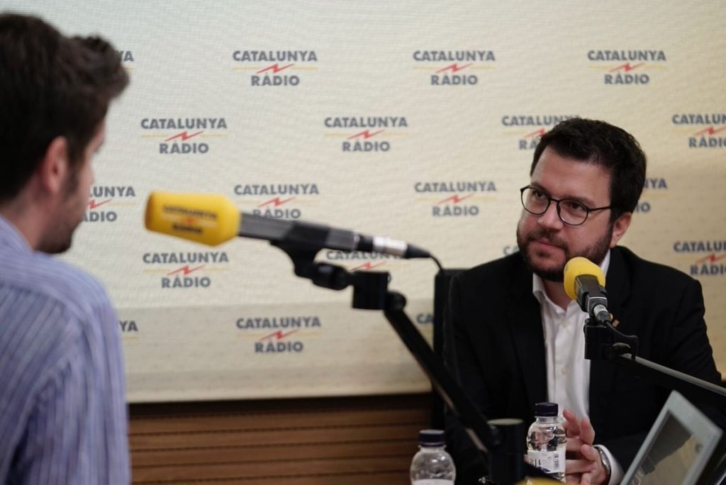Aragonès pide presionar para que el Estado sufra «un coste» en los juicios a soberanistas