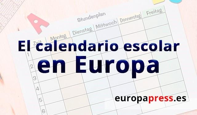 La 'vuelta al cole' en Europa comienza a principios de agosto en Finlandia y termina a finales de septiembre en Malta