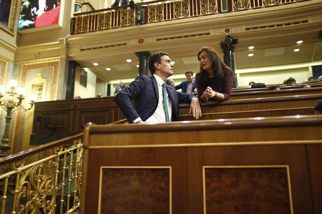 Sánchez justificaba en abril la moción de censura contra Cifuentes en que «la mentira no puede presidir Madrid»