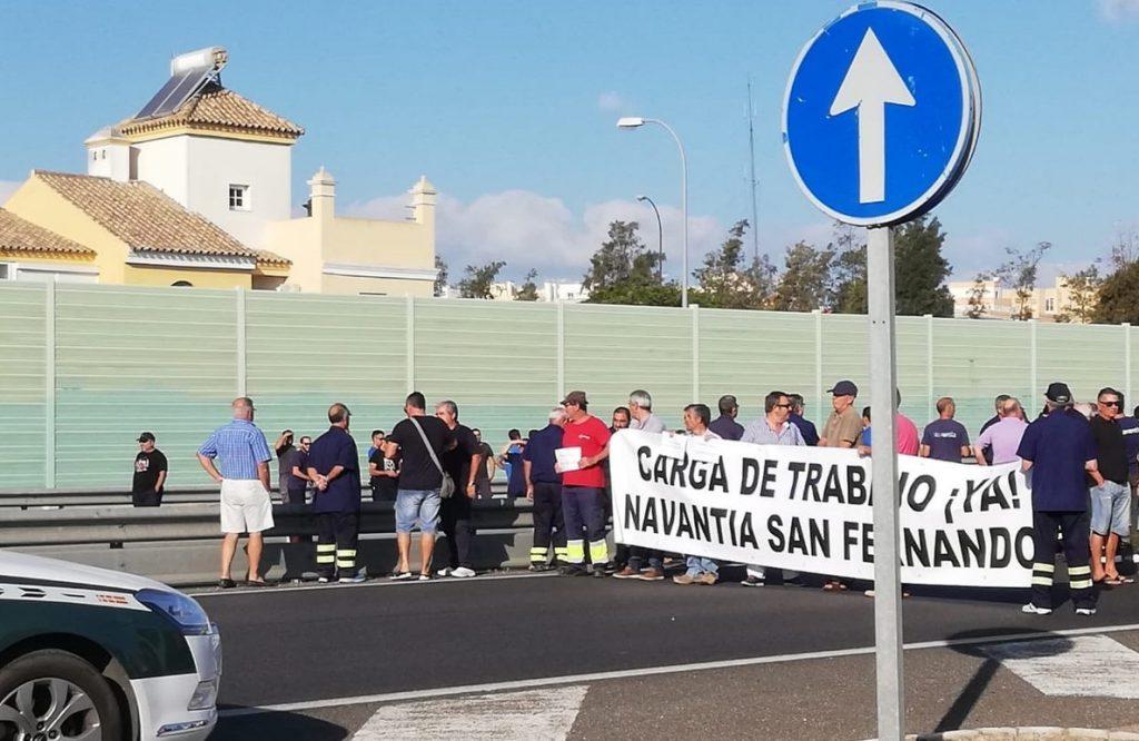 Trabajadores de astilleros en San Fernando vuelven este martes a la calle por la incertidumbre de las corbetas
