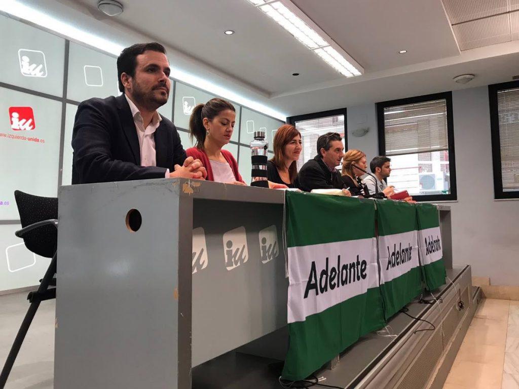 Alberto Garzón (IU) expresa su apoyo a 'Adelante Andalucía' y se compromete a «volcarse» en su campaña
