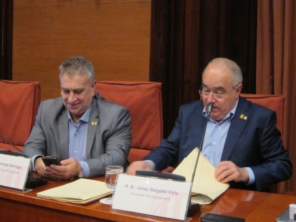 El conseller de Enseñanza catalán: «Nos tenemos que conjurar para sacar a la escuela del debate político»
