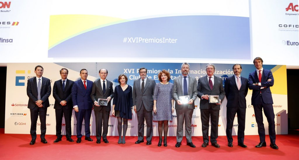 Talgo, González Byass y Cesce reciben el Premio a la Internacionalización 2018 del Club de Exportadores