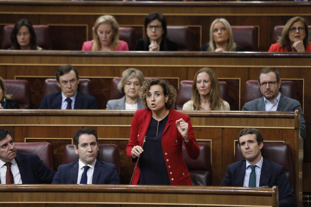 Dolors Montserrat (PP) dice que el enfrentamiento entre Borrell (PSOE) y Rufián (ERC) es el de dos socios de gobierno