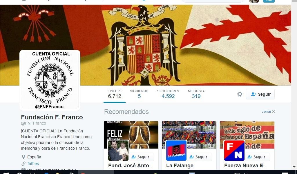 La Fundación Francisco Franco ingresó en 2015 de sus socios 97.605 euros y 75.372 de subvenciones y donaciones