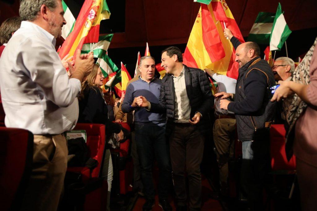 Moreno considera estas elecciones como el «momento histórico» más importante en Andalucía tras el 4 de diciembre