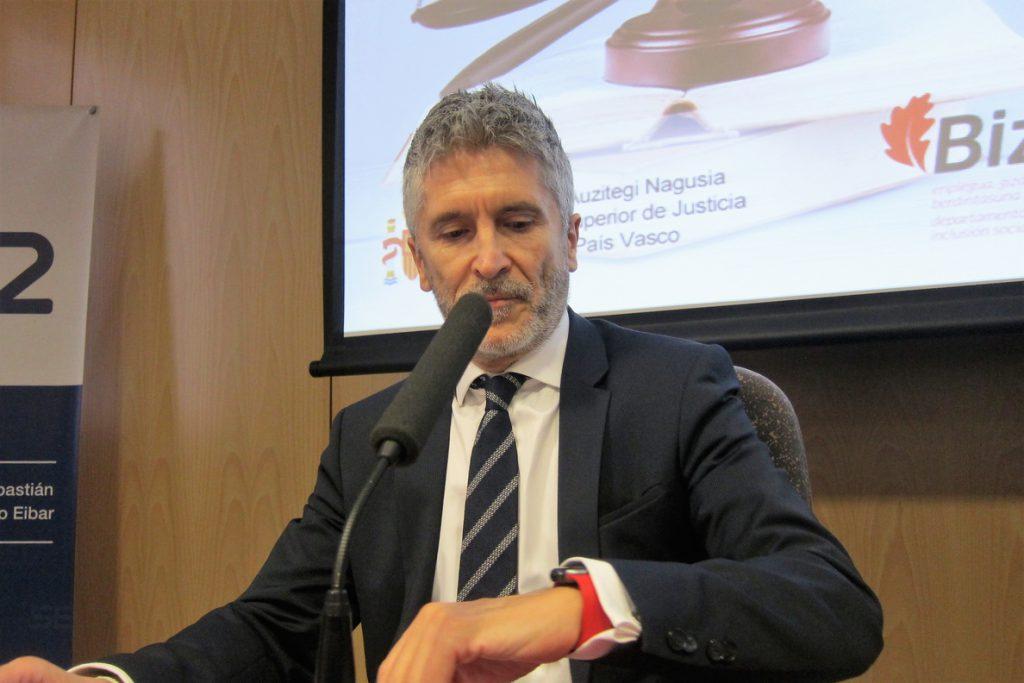 Marlaska niega descoordinación sobre el traspaso de prisiones al País Vasco: «No está en la agenda inmediata»