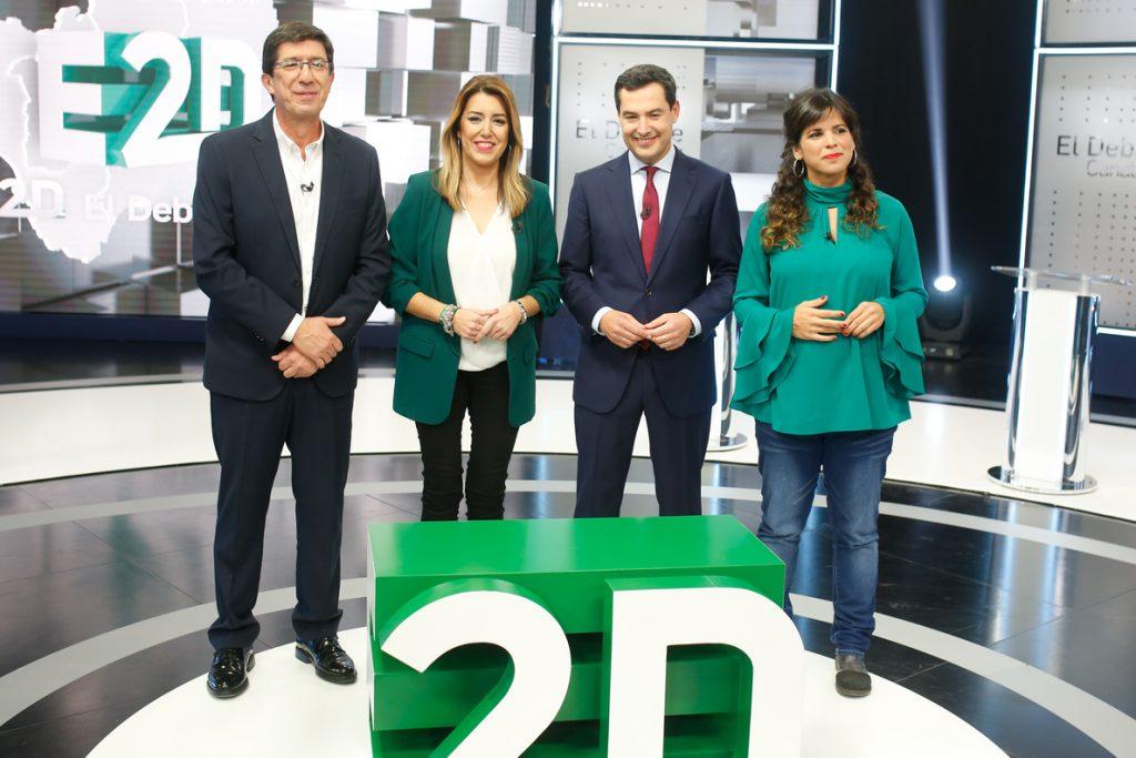 PSOE-A ganaría con 5-11 diputados menos, PP-A y Cs no sumarían mayoría y VOX puede tener 4 escaños, según sondeos