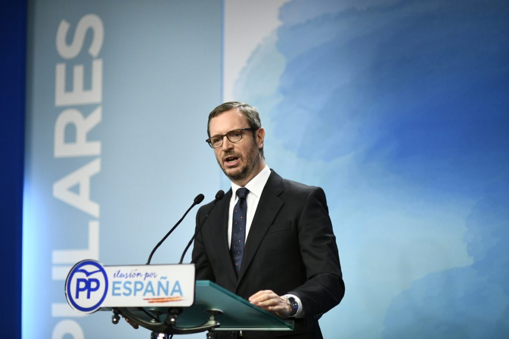 Maroto (PP) subraya que Casado dice sobre inmigración lo mismo que aprobó Rajoy, pero de una «manera más clara»