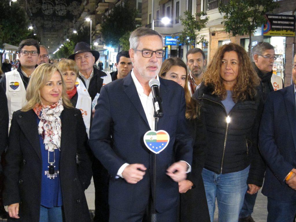 Villegas (Cs): Sevilla será decisiva para el futuro andaluz al tener un escaño «bailando entre Ciudadanos y Podemos»