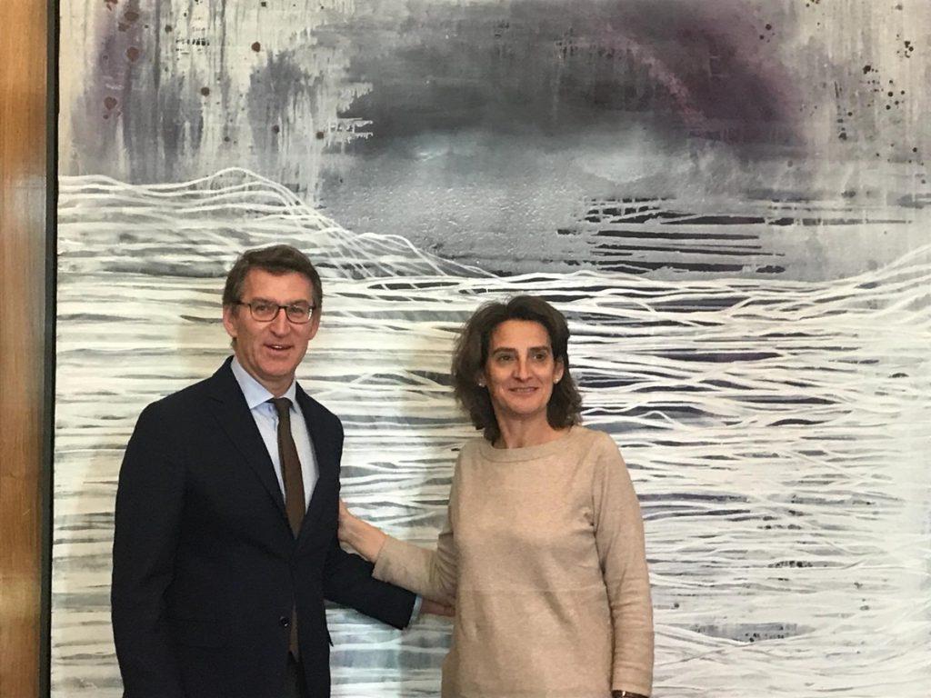 Feijóo defiende ante Ribera una transición energética «moderada» y no «abrupta» para Galicia